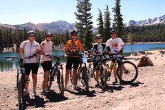 family mountain biking in mammoth